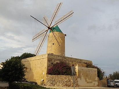 Come arrivare a Ta' Kola Windmill con i mezzi pubblici - Informazioni sul luogo