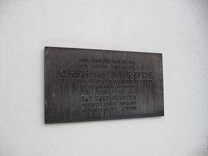 Carl Friedrich Philipp von Martius - Memorial plaque for Martius in Munich, erected 1968 by the State of Brazil.