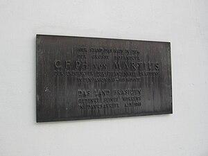 Carl Friedrich Philipp von Martius - Memorial plaque for Martius in Munich, erected 1968 by the State of Brazil.