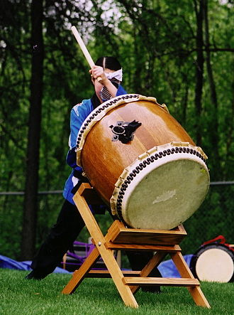 Music of Japan - Taiko performing