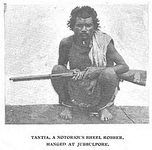 Tantia Bhil, a legendary robber in Central India.jpg