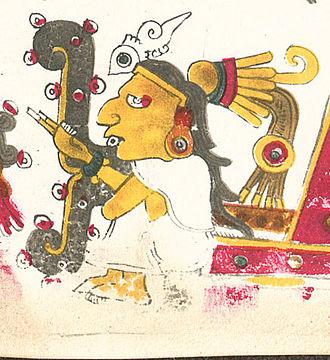 Tēcciztēcatl - A drawing of Tecciztecatl, one of the deities described in the Codex Borgia