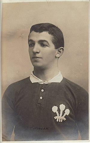 Teddy Morgan - Dr. Morgan in Wales jersey (c 1905)