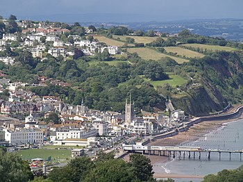 English: Teignmouth from the coast path