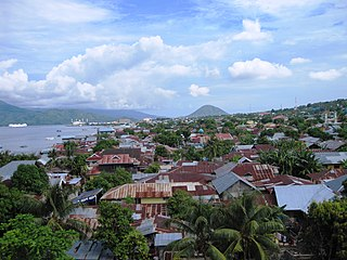 Ternate City in North Maluku, Indonesia