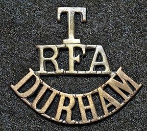 205 (3rd Durham Volunteer Artillery) Battery Royal Artillery - Image: Territorial shoulder title of the Durham artillery