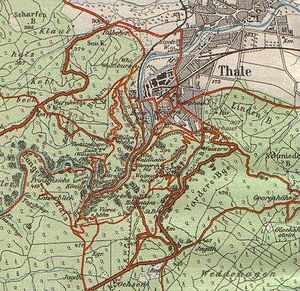 Thale - 1912 map of Thale
