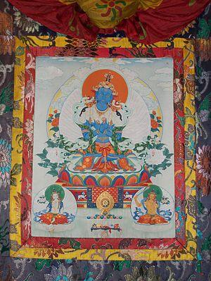 Vajradhara - Tibetan thangka of Vajradhara