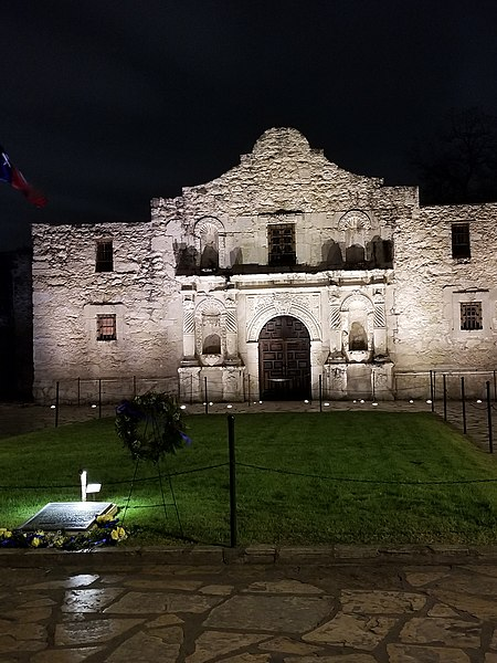File:The Alamo Mission - evening in the springtime.jpg