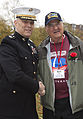 The Assistant Commandant of the Marine Corps, Gen. John M. Paxton, Jr., left, greets a veteran during an Honor Flight event at the Marine Corps War Memorial in Arlington, Va., Sept 131112-M-KS211-012.jpg