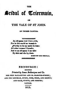 <i>The Bridal of Triermain</i> poem by Walter Scott