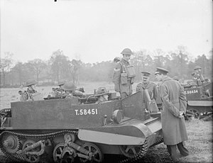 4th Infantry Division (United Kingdom) - The Duke of Kent inspects Universal Carriers of the 1st Battalion, Queen's Own Royal West Kent Regiment, at Camberley, Surrey, 16 March 1942.