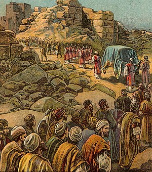 The Capture of Jericho; as in Joshua 6:8-20; i...