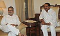 The Chief Minister of Andhra Pradesh, Shri N. Kiran Kumar Reddy meeting the Union Minister for Road Transport and Highways, Dr. C.P. Joshi to discuss the road projects in Andhra Pradesh, in New Delhi on August 30, 2011.jpg