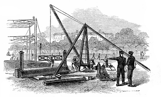 VIEW OF CRANE AND PROVING-PRESS.