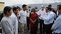 The DRDO Chief, Dr. V.K. Saraswat interacting with the scientists and staff at the Defence Institute of High Altitude Research (DIHAR), at Leh, in Jammu & Kashmir on August 19, 2010.jpg