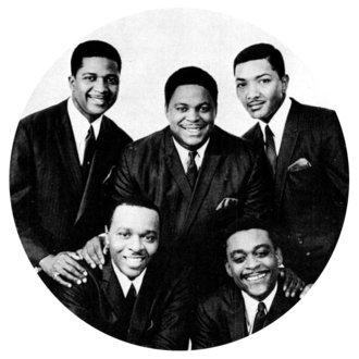 The Dells - The Dells in 1967: (Top row,L-R): Mickey McGill, Marvin Junior,Verne Allison.(Bottom row, L-R): Chuck Barksdale, Johnny Carter.