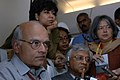 The Foreign Secretary, Shri Shivshankar Menon and the Prime Minister's Principle Secretary, Shri T.K.A. Nair interacting with the accompanying media on board on his way to Tokyo, Japan on October 21, 2008.jpg