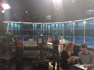 The Frontline (Irish TV programme) - The Frontline's studio before the first broadcast