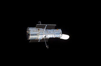 The NASA/ESA Hubble Space Telescope in space.