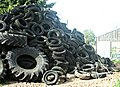 The Inglesbatch Farm tyre repository - geograph.org.uk - 749607.jpg