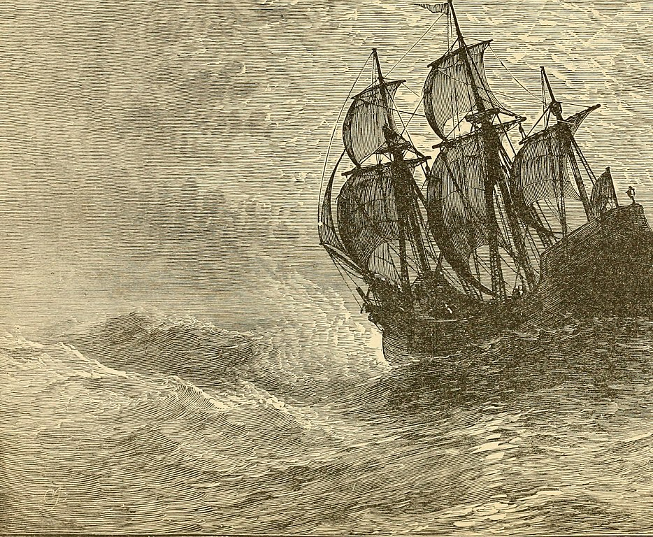 The Mayflower at Sea - Crossing the Atlantic