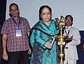 The Minister of State (Independent Charge) for Environment and Forests, Smt. Jayanthi Natarajan lighting the lamp at the International Ozone Day celebrations, in New Delhi on September 16, 2011.jpg