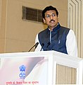 The Minister of State for Information & Broadcasting, Col. Rajyavardhan Singh Rathore addressing at the launching ceremony of DD Kisan Channel, in New Delhi on May 26, 2015.jpg