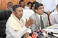 The Minister of State for Railways, Shri K.H. Muniyappa briefing the media on progress of ongoing Railway Projects, in Ahmedabad, Gujarat on October 26, 2009.jpg