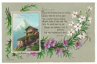 Mönch - Image: The Moench, by Helga von Cramm, with prayer by Achespè, chromolithograph, c. 1879. (3 x 4.5 inches)