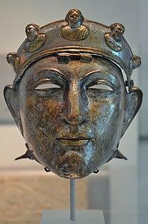 Nijmegen Helmet Facial iron mask of a Roman horseman