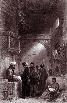 An imaginary view of an Ottoman opium seller