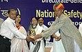 The President, Smt. Pratibha Devisingh Patil presenting the National Safety Awards (Mines) for 2004-06 to Shri N.K. Bhakat Sr. Manager and Shri Raghubeer Singh, Mines Mate, in New Delhi on May 06, 2008.jpg