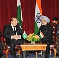 The Prime Minister, Dr. Manmohan Singh in a bilateral meeting with the Prime Minister of Pakistan, Mr. Nawaz Sharif, in New York on September 29, 2013 (2).jpg