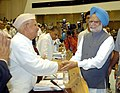 The Prime Minister, Dr. Manmohan Singh with the Chief Minister of Uttaranchal, Shri N. D. Tiwari at the 51st meeting of National Development Council in New Delhi on June 27, 2005.jpg