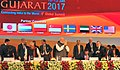 The Prime Minister, Shri Narendra Modi at the Vibrant Gujarat Global Summit 2017, at Mahatma Mandir, in Gandhinagar, Gujarat on January 10, 2017. The Governor of Gujarat and Madhya Pradesh, Shri O.P. Kohli is also seen (1).jpg