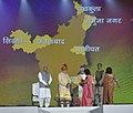 The Prime Minister, Shri Narendra Modi distributing the certificates to functionaries of 7 best performing districts in ODF (Open Defecation Free) Campaign, at Haryana Swarna Jayanti Celebrations, in Gurugram, Haryana.jpg