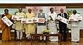 The Prime Minister, Shri Narendra Modi releasing the Commemorative Postage Stamp on Ramanujacharya, in New Delhi.jpg