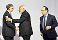 The Prime Minister, Shri Narendra Modi with the President of France, Mr. Francois Hollande and Mr. Bill Gates at the Innovation Summit in COP 21, in Paris, France on November 30, 2015.jpg