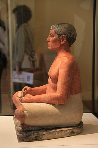 The Seated Scribe - Image: The Seated Scribe, April 2011