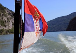 The Serbian flag, National park Đerdao.jpg