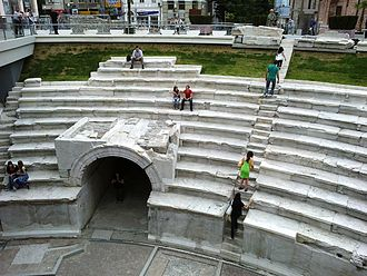 Plovdiv Roman Stadium - The Ancient stadium in May 2012
