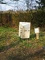 The Stallington Heath milepost - detail - geograph.org.uk - 1805800.jpg