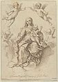 The Virgin seated in the clouds with the infant Christ, surrounded by putti, after a drawing by Reni MET DP841766.jpg