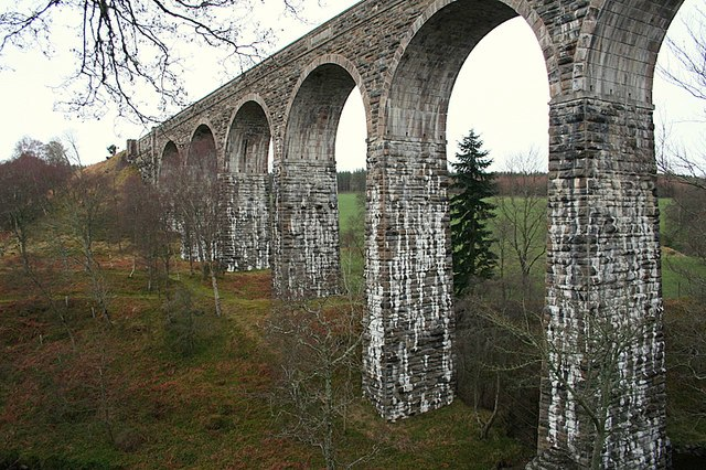 The awesome Divie viaduct. - geograph.org.uk - 370166