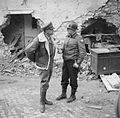 The commander of the Allied Armies in Italy, General Sir Harold Alexander, with American General Truscott, in charge of the Allied bridgehead at Anzio, 4 March 1944. NA12364.jpg