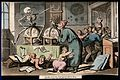 The dance of death; the schoolmaster. Coloured aquatint by T Wellcome V0041989.jpg