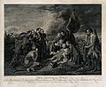 The death of General Wolfe, at Quebec, in the background are Wellcome V0006703.jpg
