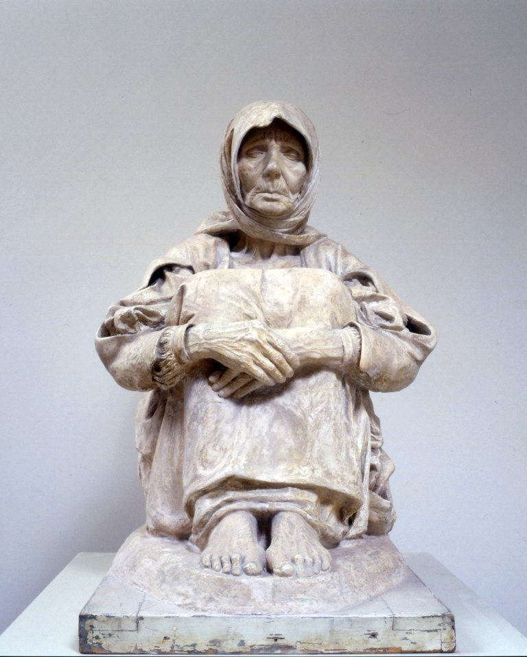 The mother of the killed - Francesco Ciusa, Civic art Gallery