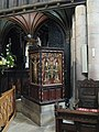 The pulpit, Hexham Abbey - geograph.org.uk - 738766.jpg